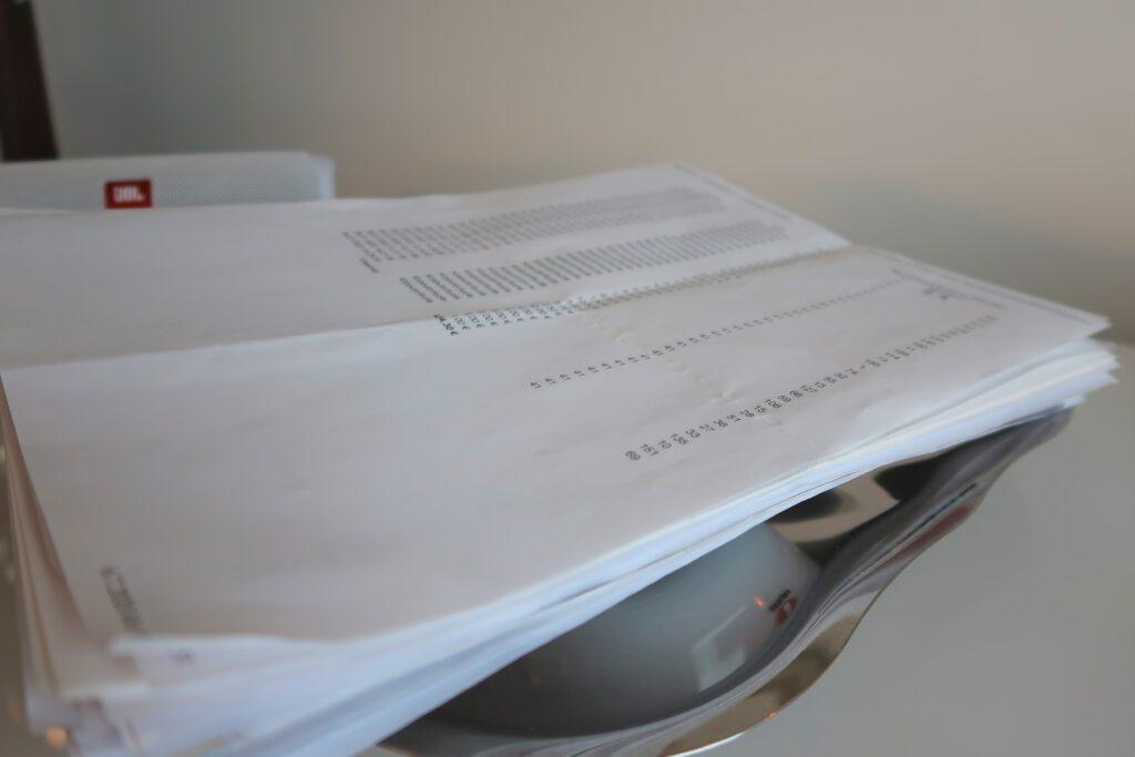 Minimalismipeili, päivä 25: paperit